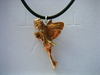 Bronze fairy on Black necklet